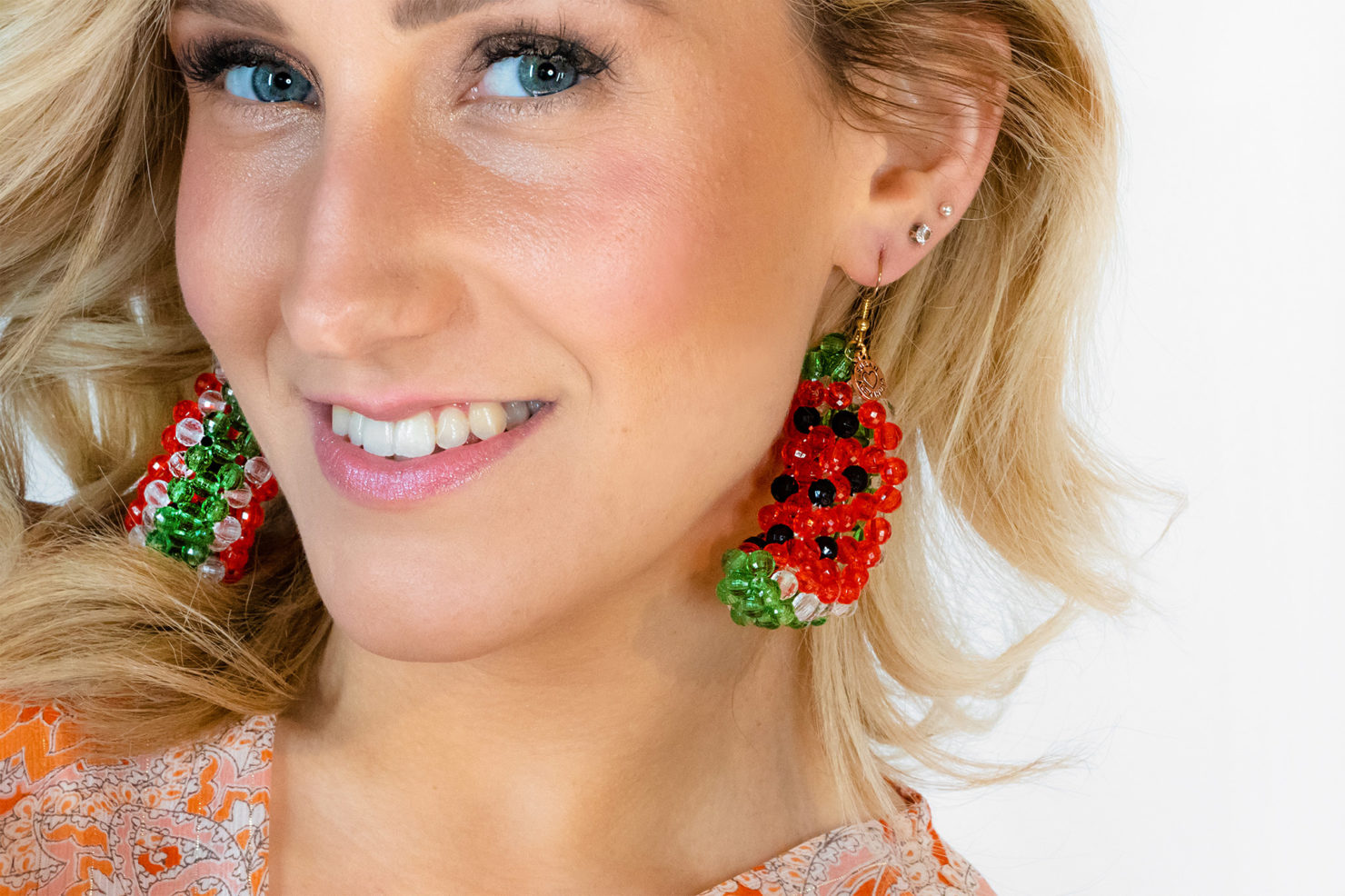 WATERMELON ICEY EARRINGS SUSAN ALEXANDRA FT. MARGARET BLAME