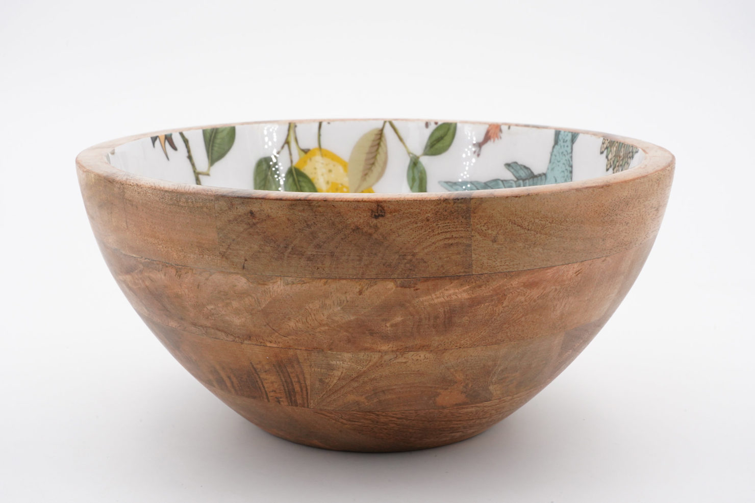BOWL LEMON BIRD MANGO WOOD 25 CM - BY ROOM