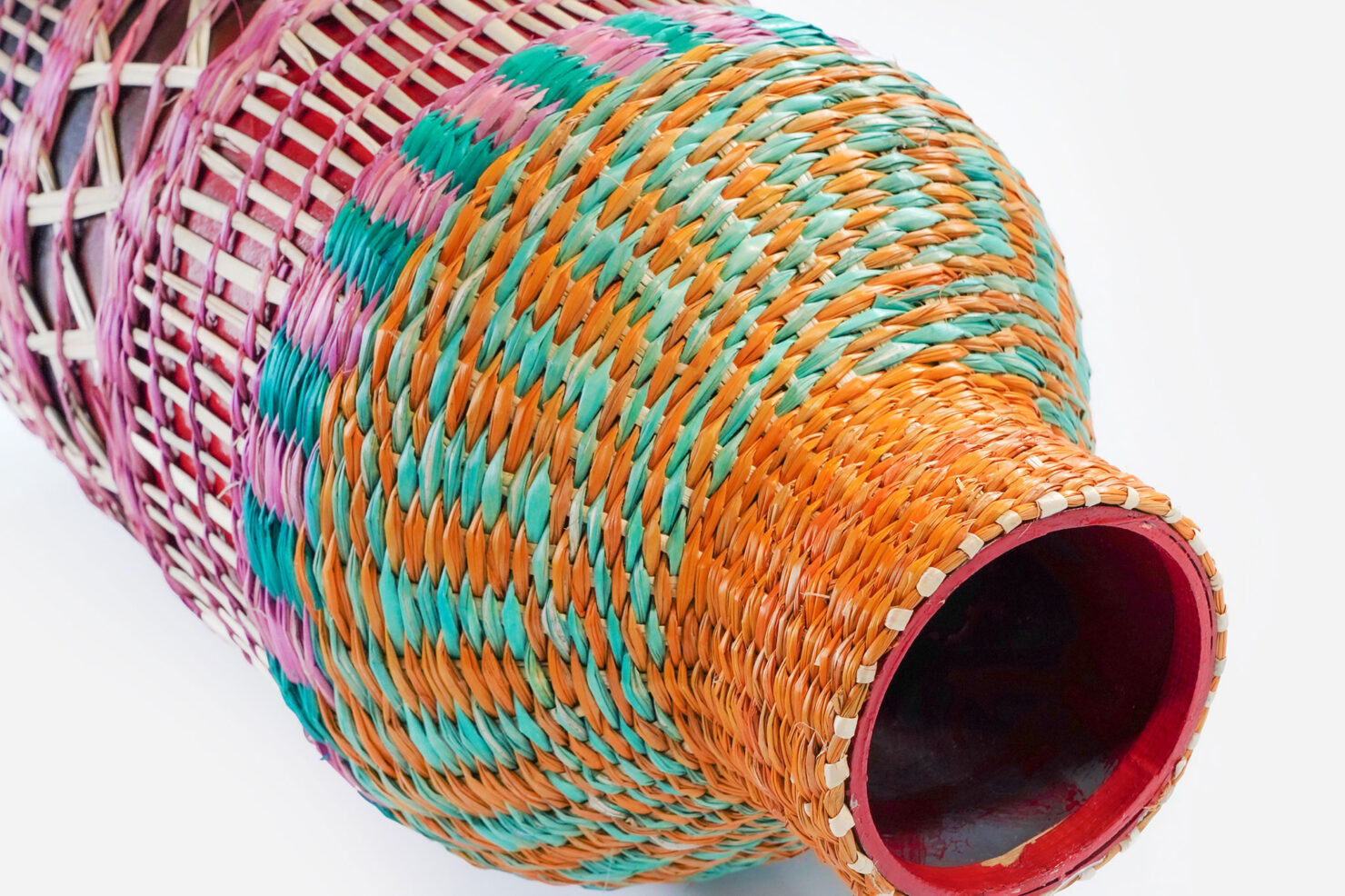 COLORED BRAID VASE 51 - BAZAR DE LUXE