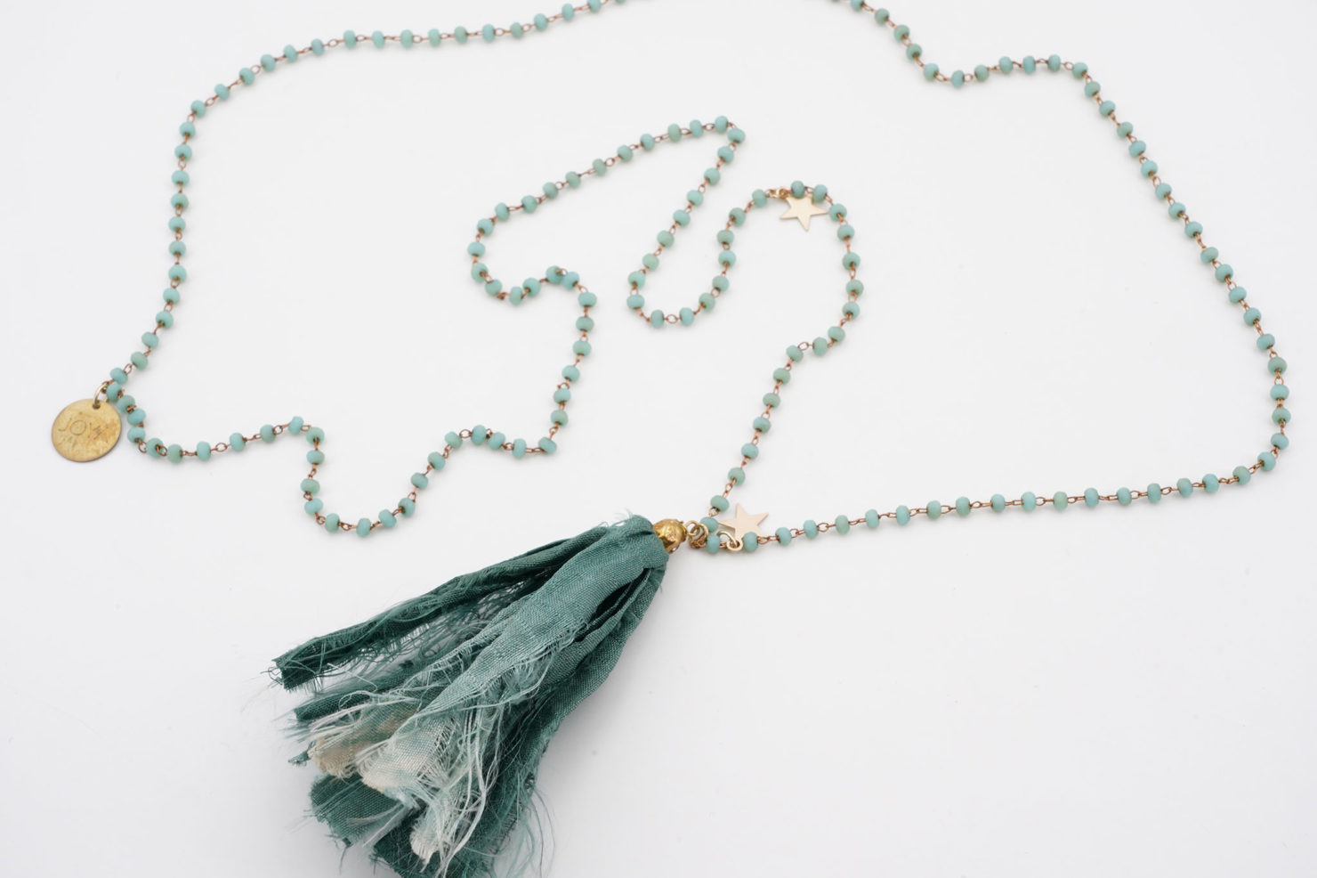 NECKLACE WITH SILK TASSEL - JOYA