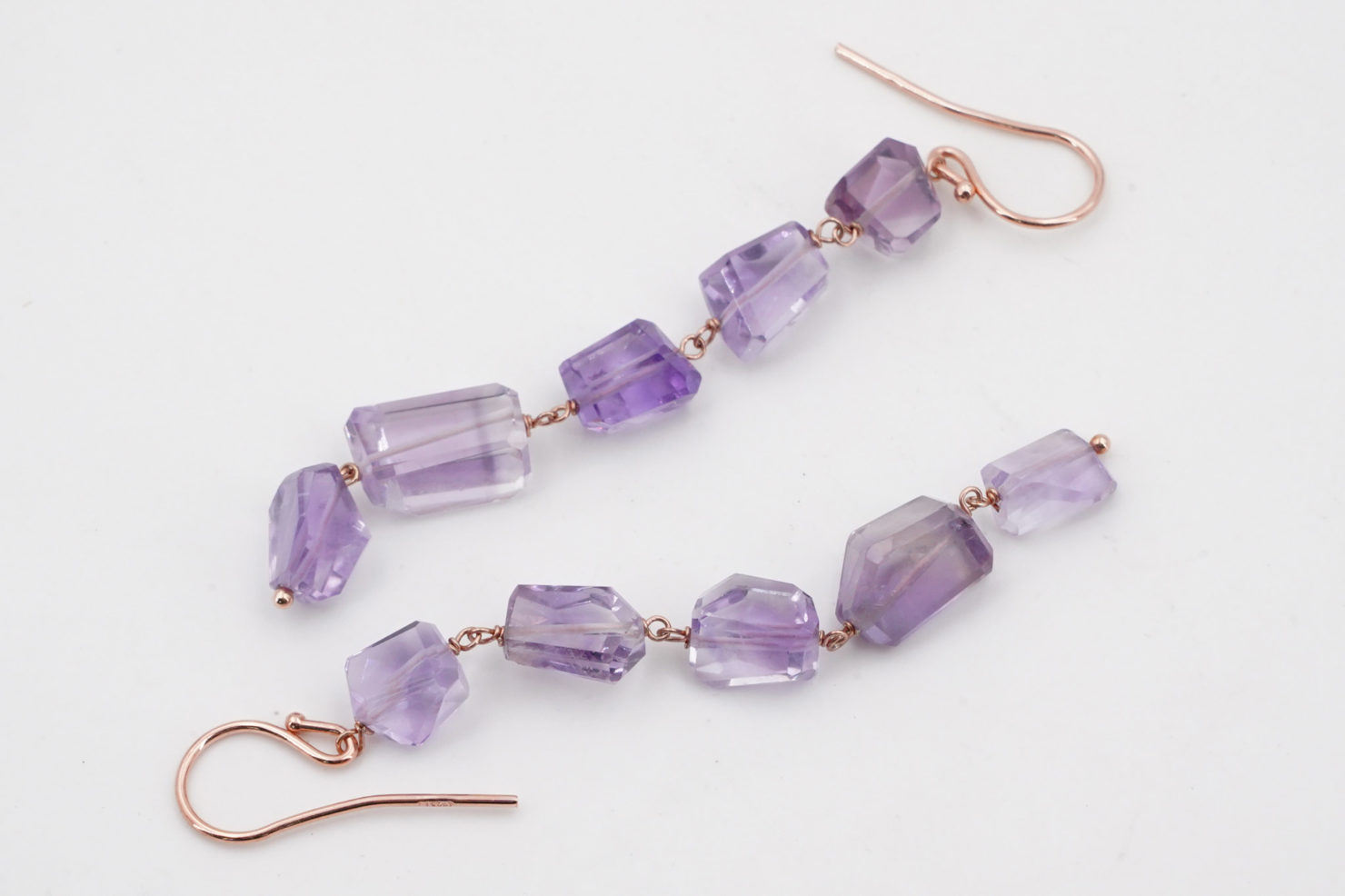PURPLE AMETHYST EARRINGS - MAYA MILANO