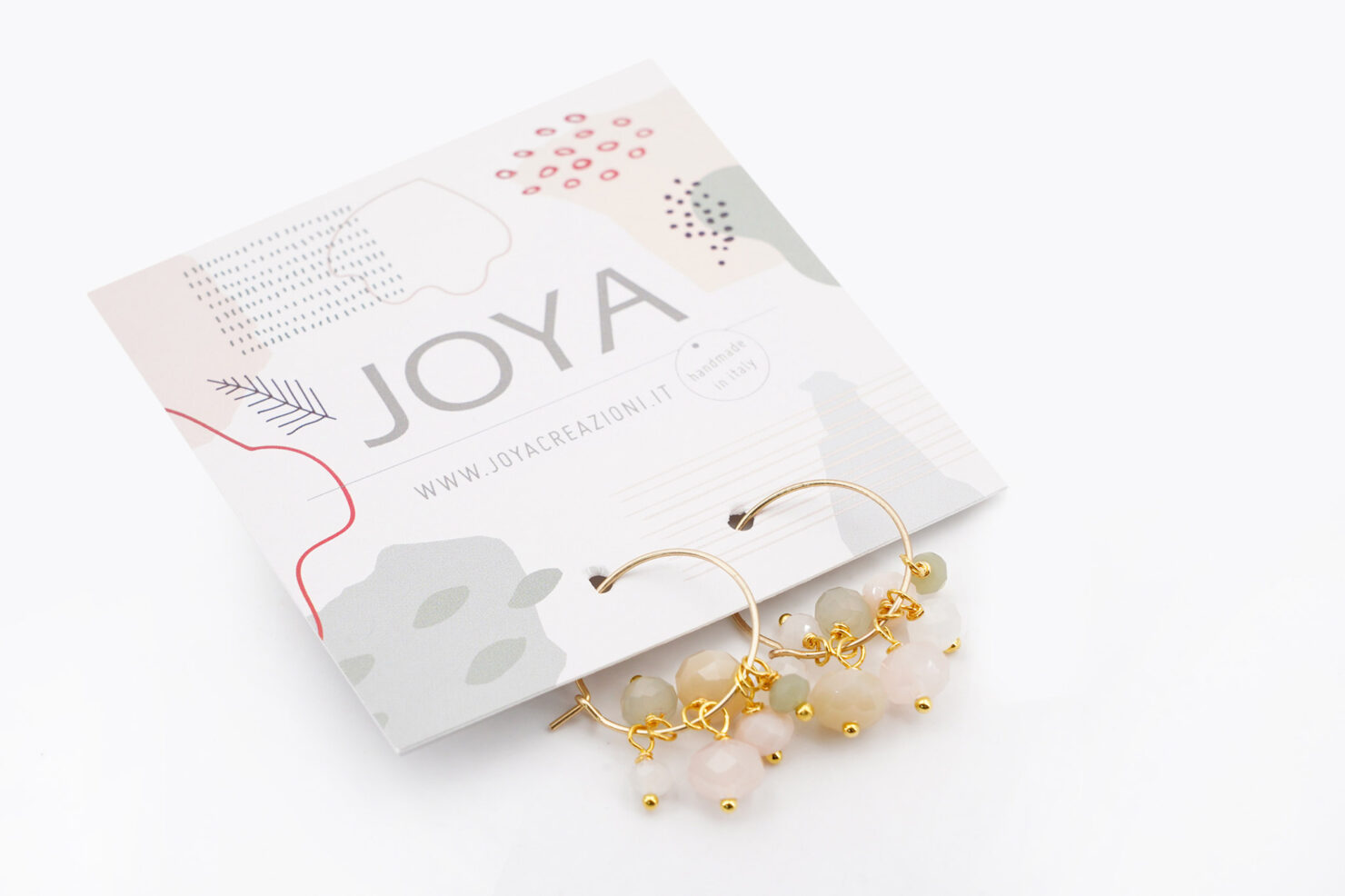 HOOP EARRINGS WITH CRYSTAL AND MURRINA BEADS SOFT MIX - JOYA
