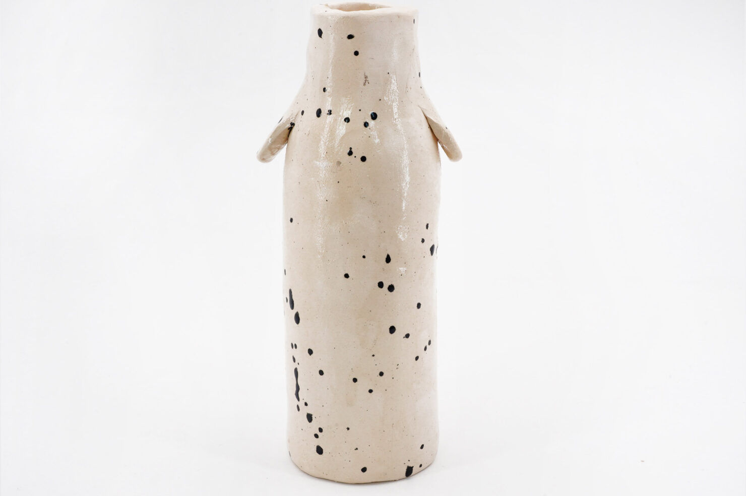 BLACK SPOTTED + BALL DOG VASE - KATIE KIMMEL