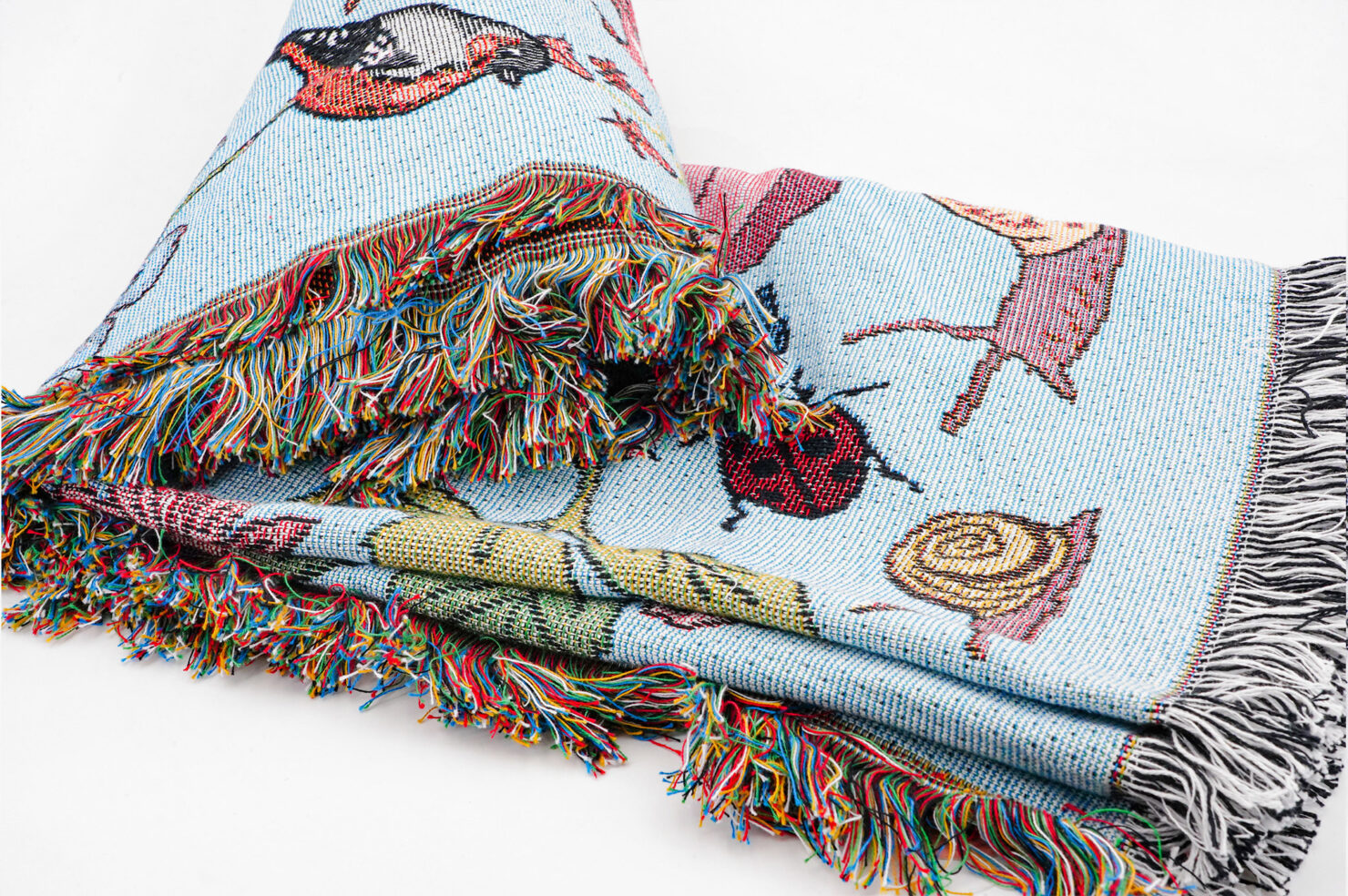 GARDEN BIRDS THROW - KAREN MABON