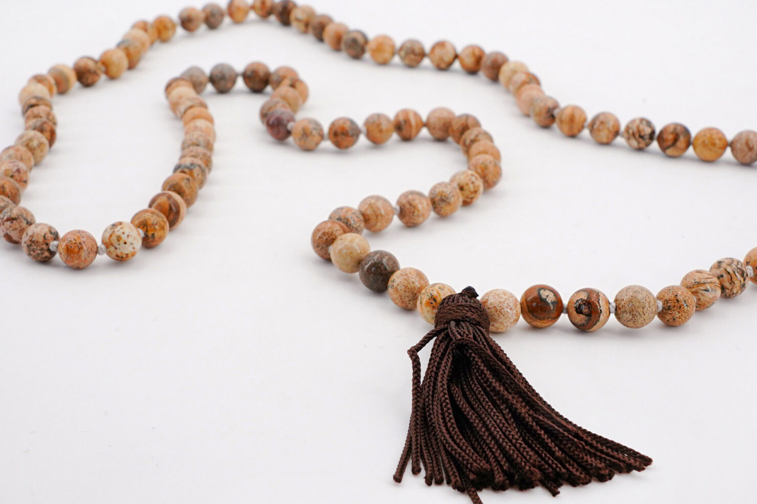 LONG NECKLACE STONES WITH TASSEL GOLD STONE SINT - M11SHOP