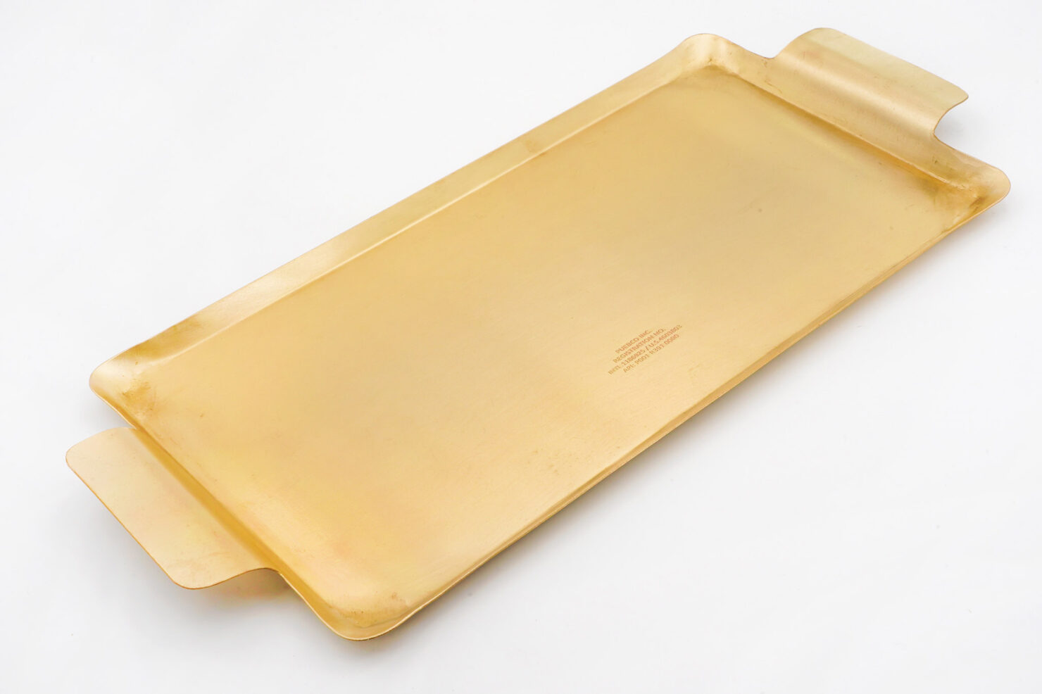 BRASS RECTANGLE TRAY - PUEBCO