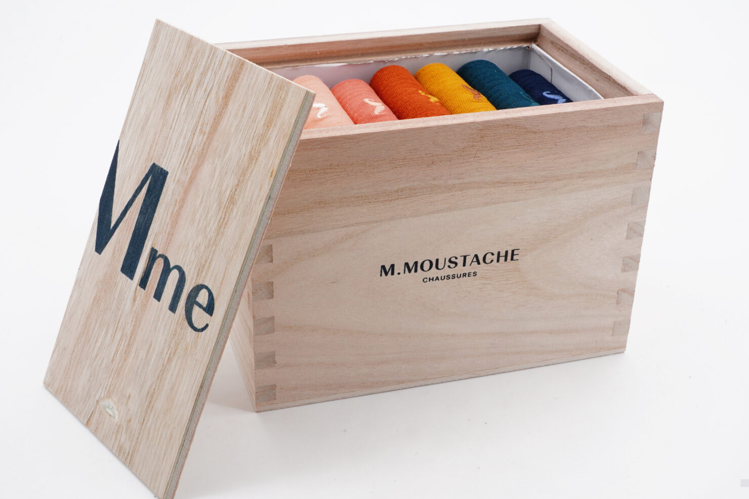 WEEKLY MULTICOLOR SOCKS BOX w - M. MOUSTACHE
