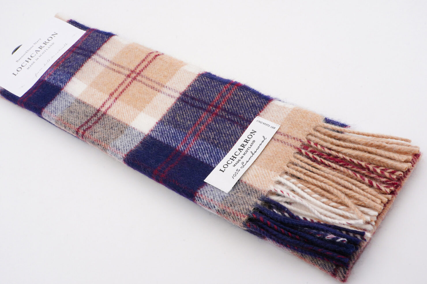 BRUSHWOOL LONG BANNOCKBANE SCARF - LOCHCARRON OF SCOTLAND