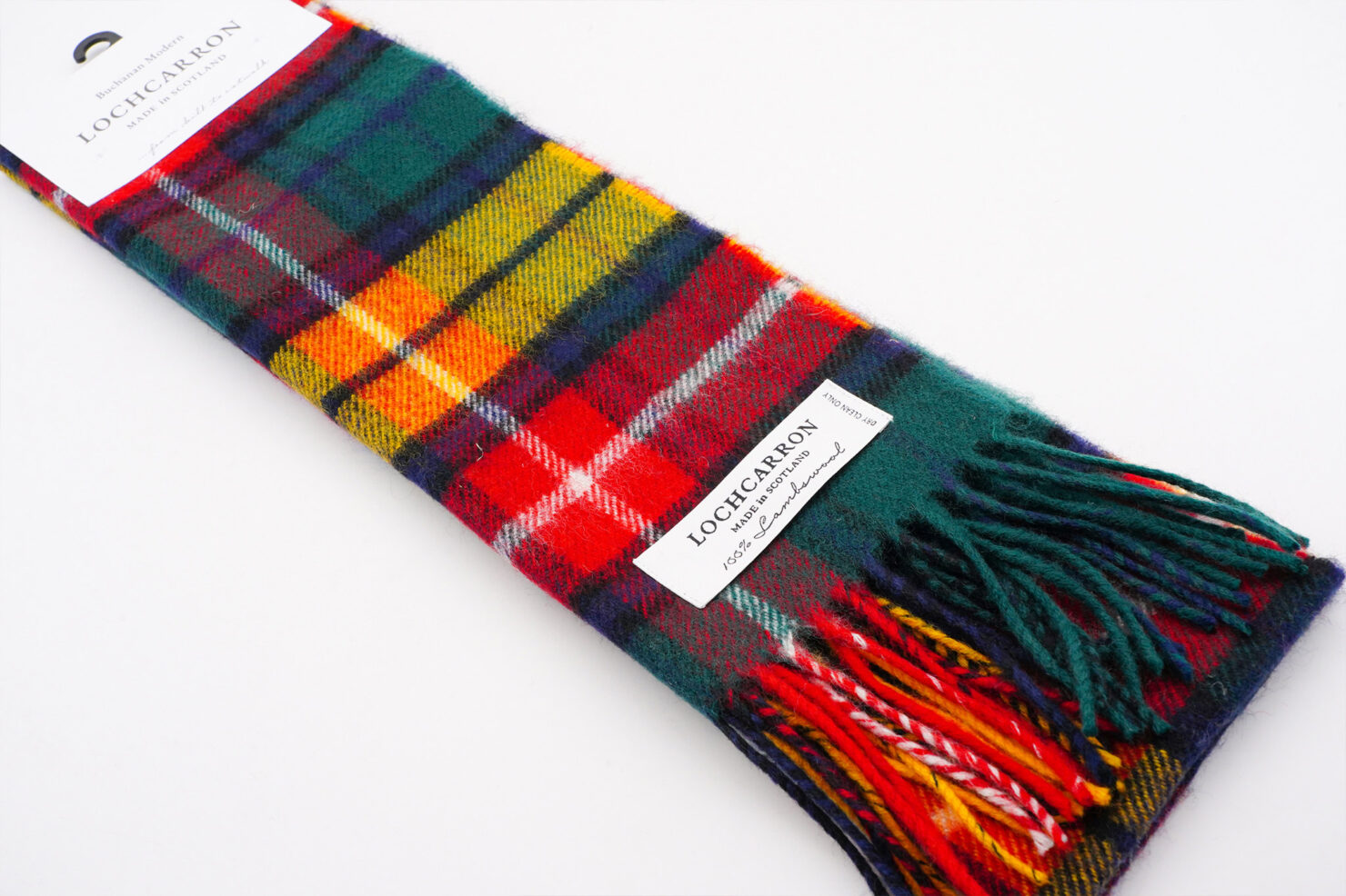 BRUSHWOOL LONG BUCHANAN SCARF - LOCHCARRON OF SCOTLAND