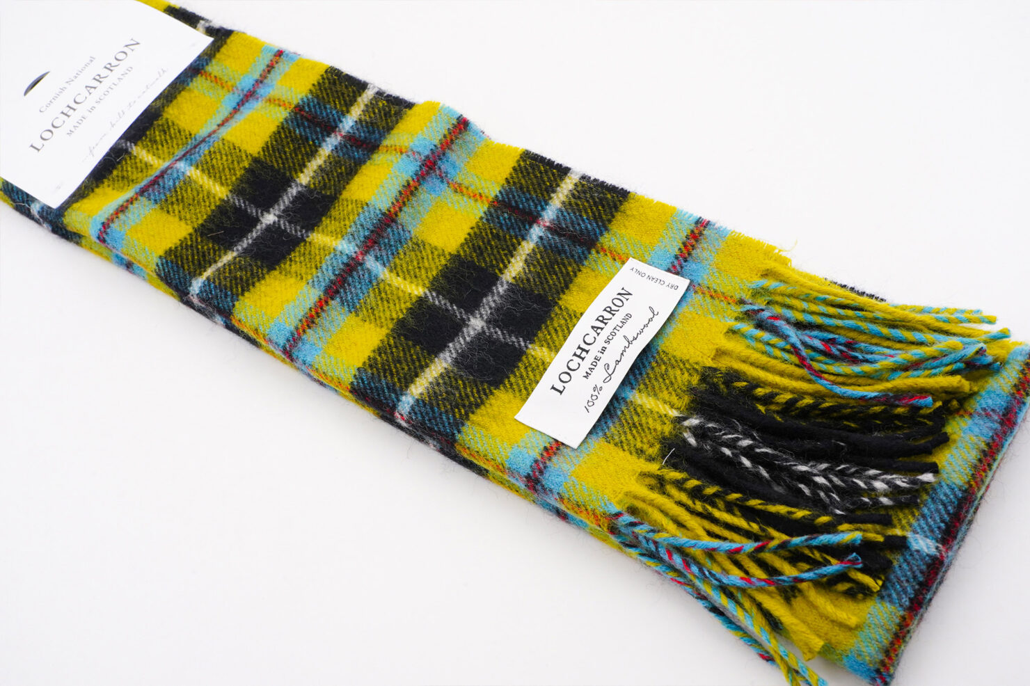 BRUSHWOOL LONG CORNISH NATIONAL SCARF - LOCHCARRON OF SCOTLAND
