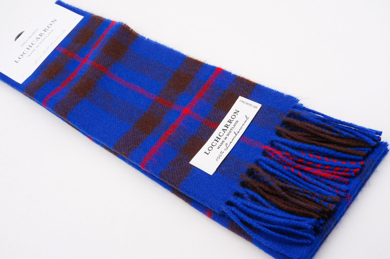 BRUSHWOOL LONG ELLIOT MODERN SCARF - LOCHCARRON OF SCOTLAND