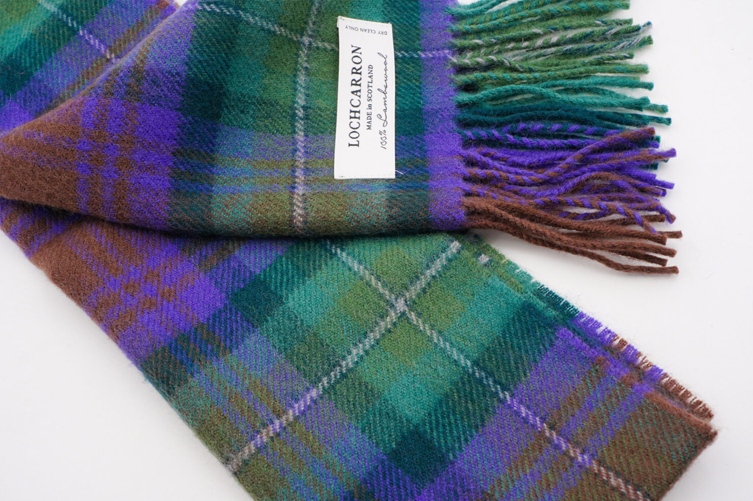 BRUSHWOOL LONG ISLE OF SKYE SCARF - LOCHCARRON OF SCOTLAND