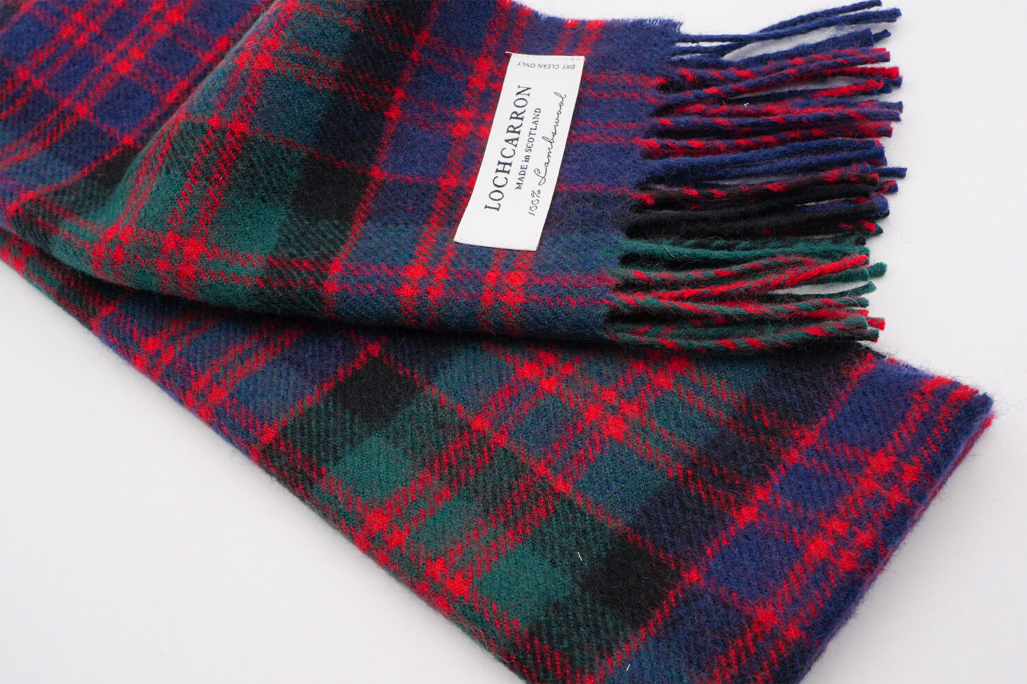 BRUSHWOOL LONG MACDONALD CLAN/M SCARF - LOCHCARRON OF SCOTLAND