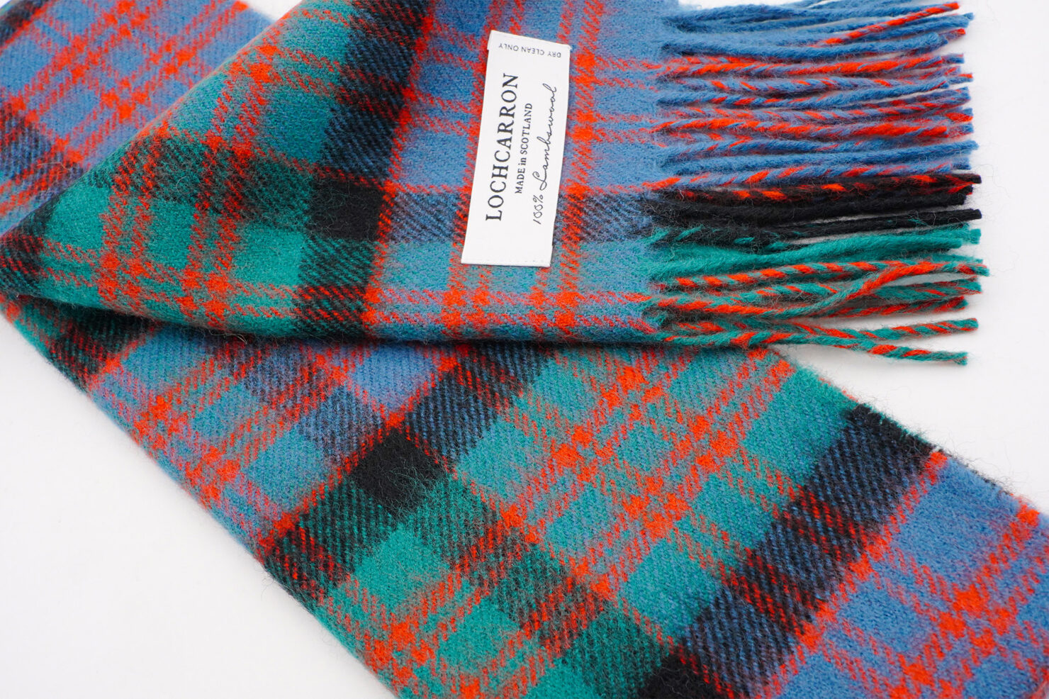 BRUSHWOOL LONG MACDONALD CLAN SCARF - LOCHCARRON OF SCOTLAND