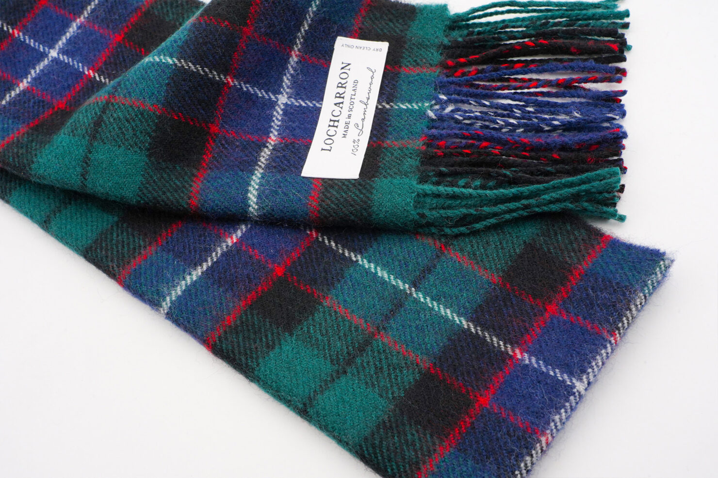 BRUSHWOOL LONG MITCHELL SCARF - LOCHCARRON OF SCOTLAND