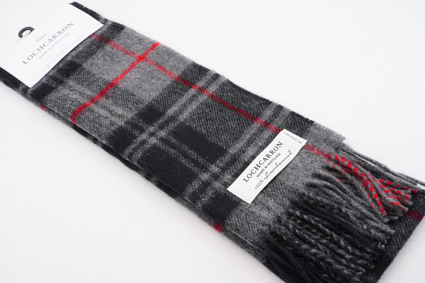 BRUSHWOOL LONG MOFFAT SCARF - LOCHCARRON OF SCOTLAND