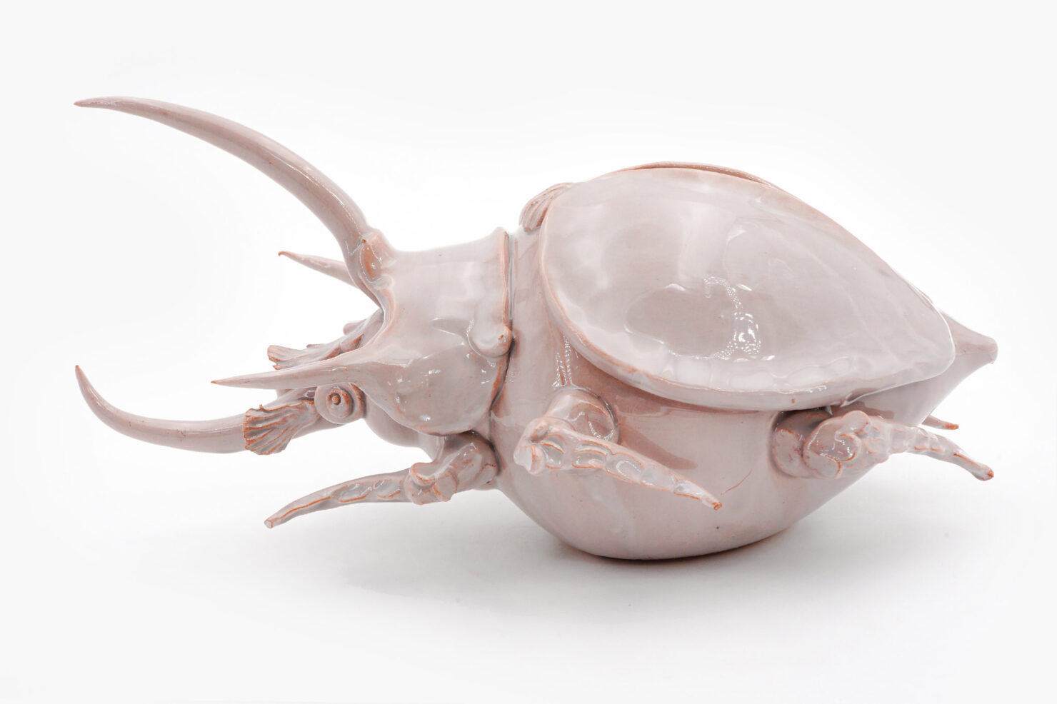 CERAMIC SMALL PURPLE BEETLE - ENZA FASANO CERAMICHE