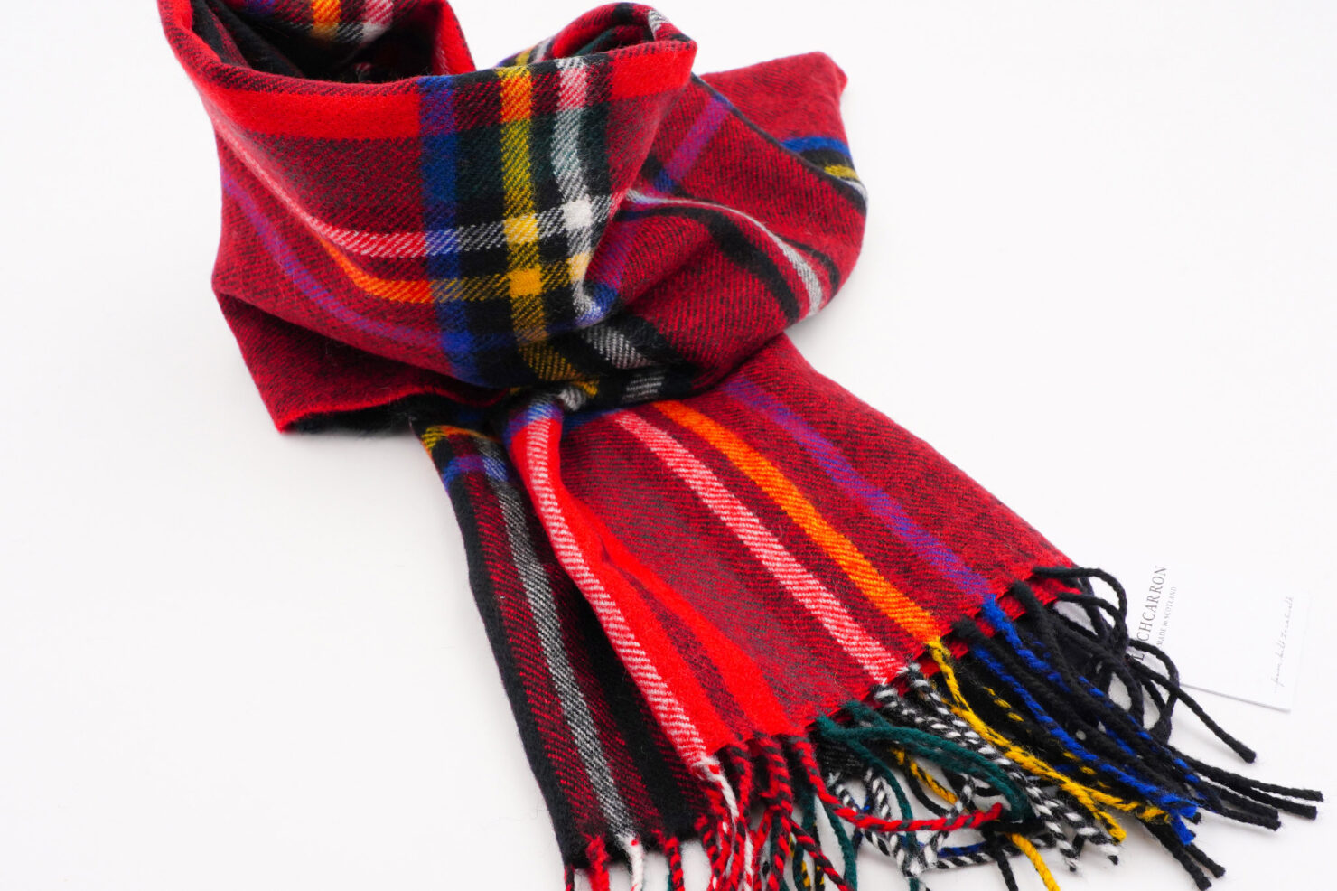 DARWIN L/WOOL BLACK ROYAL STEWART- LOCHCARRON OF SCOTLAND
