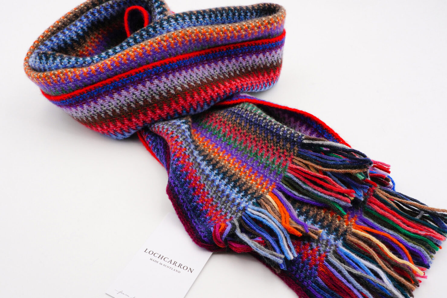 FAITH KNIT TROPIC SCARF - LOCHCARRON OF SCOTLAND
