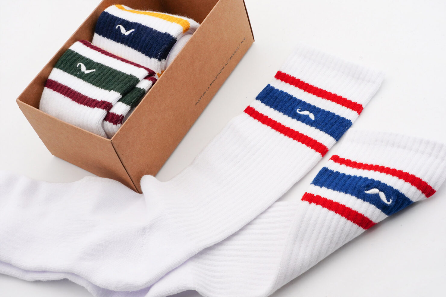 PACK OF 3 SOCKS - MAN SPORT 1 - M. MOUSTACHE