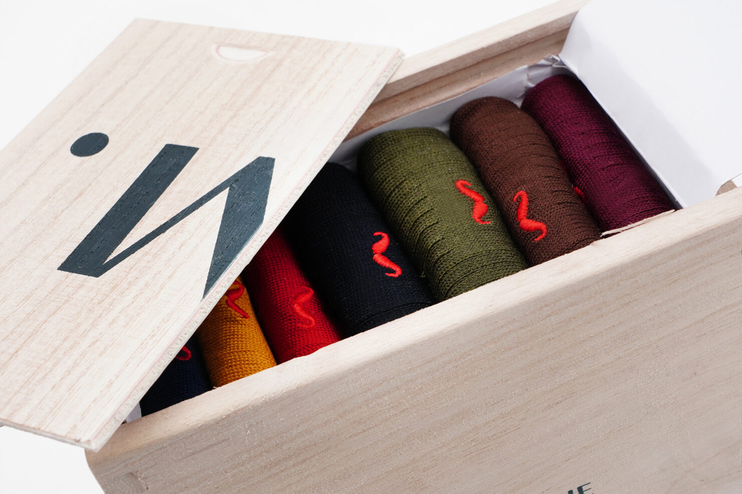WEEKLY MULTICOLOR SOCKS BOX 1 - M. MOUSTACHE