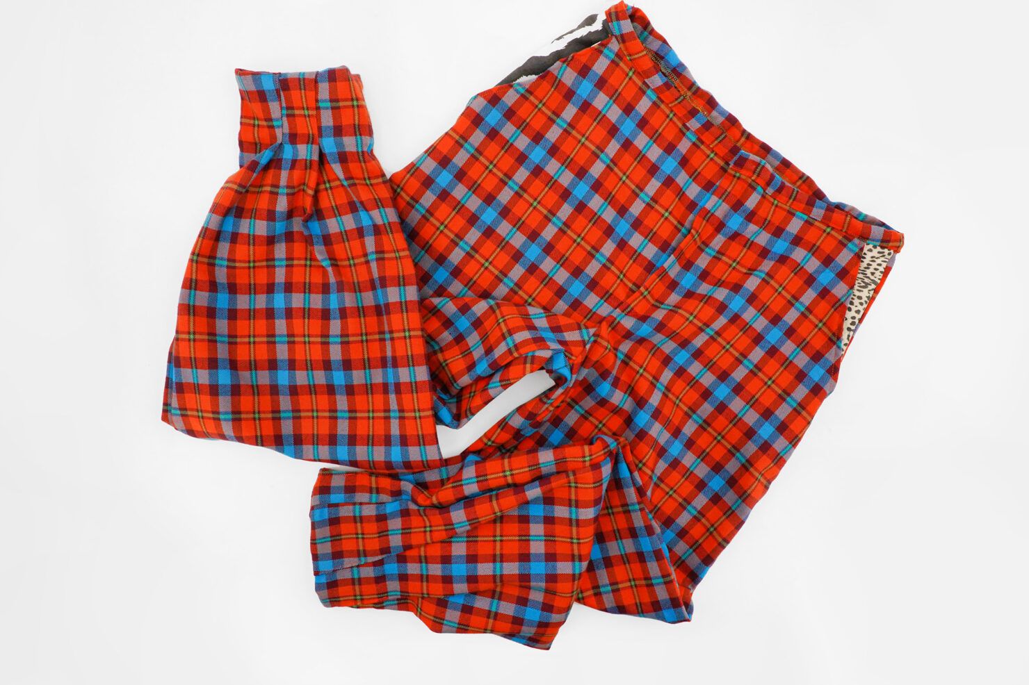 Tight tartan trousers
