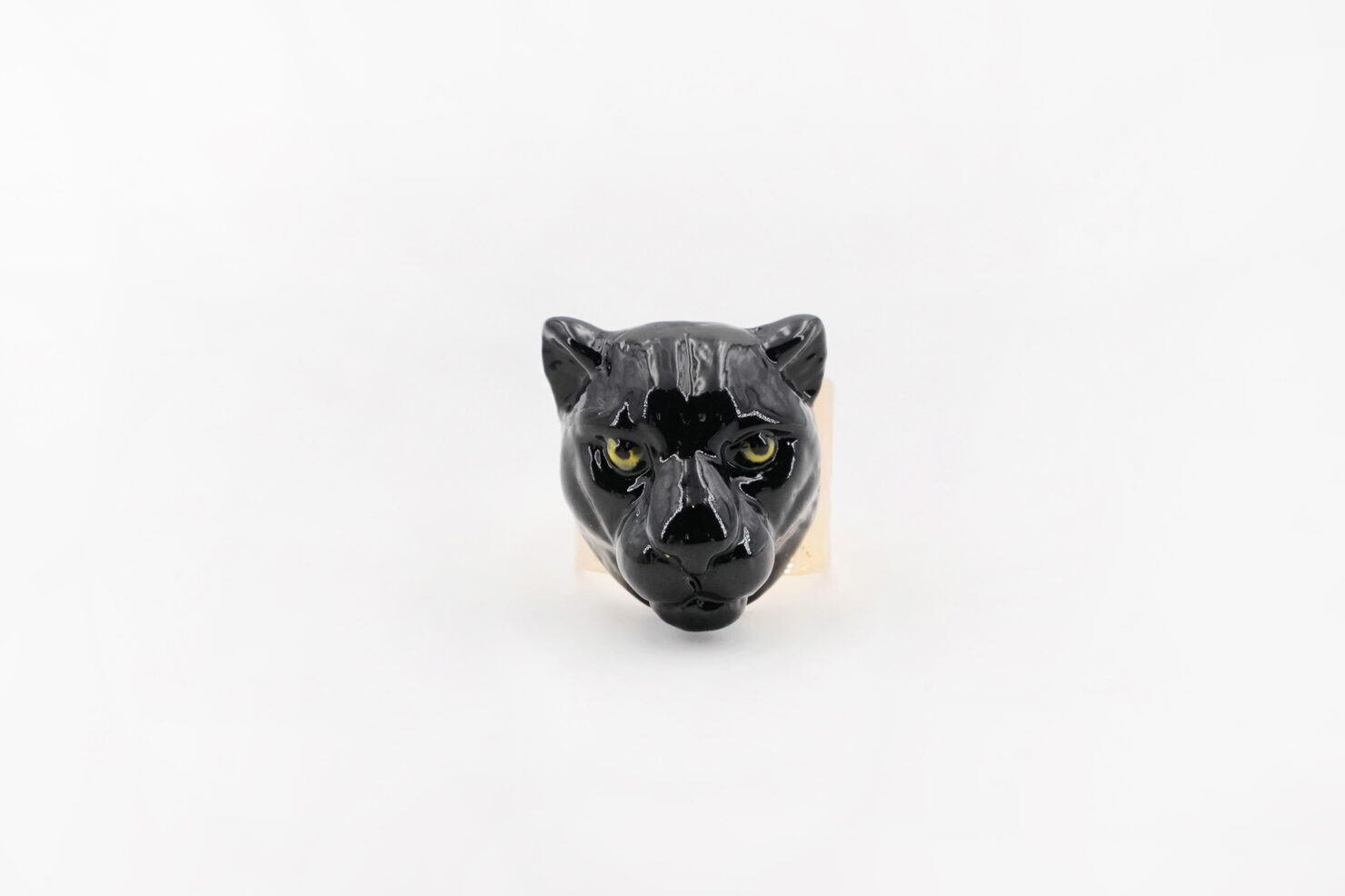 BLACK PANTER HEAD MAXI RING - NACH