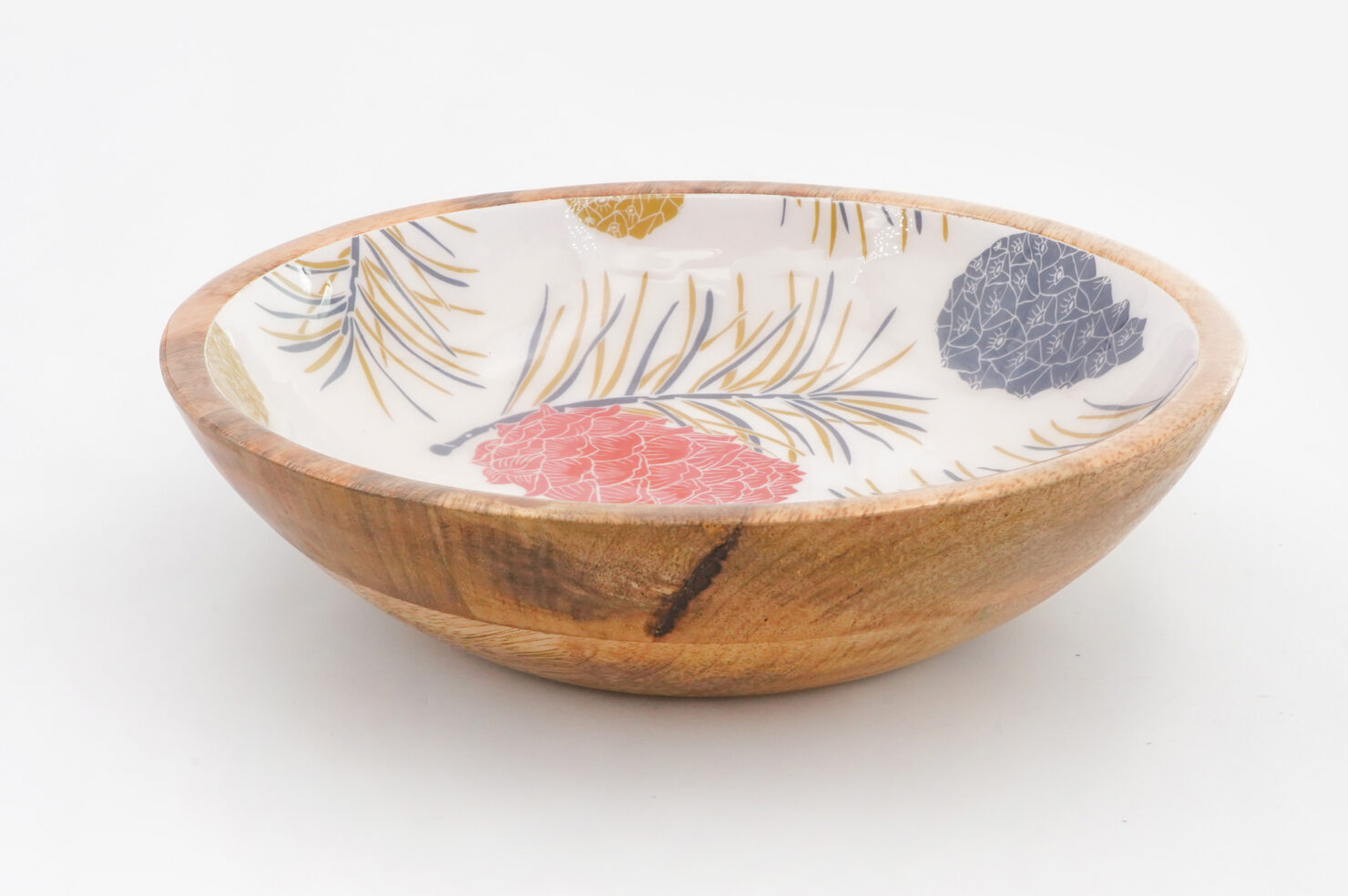 BOWL PINE CORNES MANGO WOOD 25 CM - BY ROOM