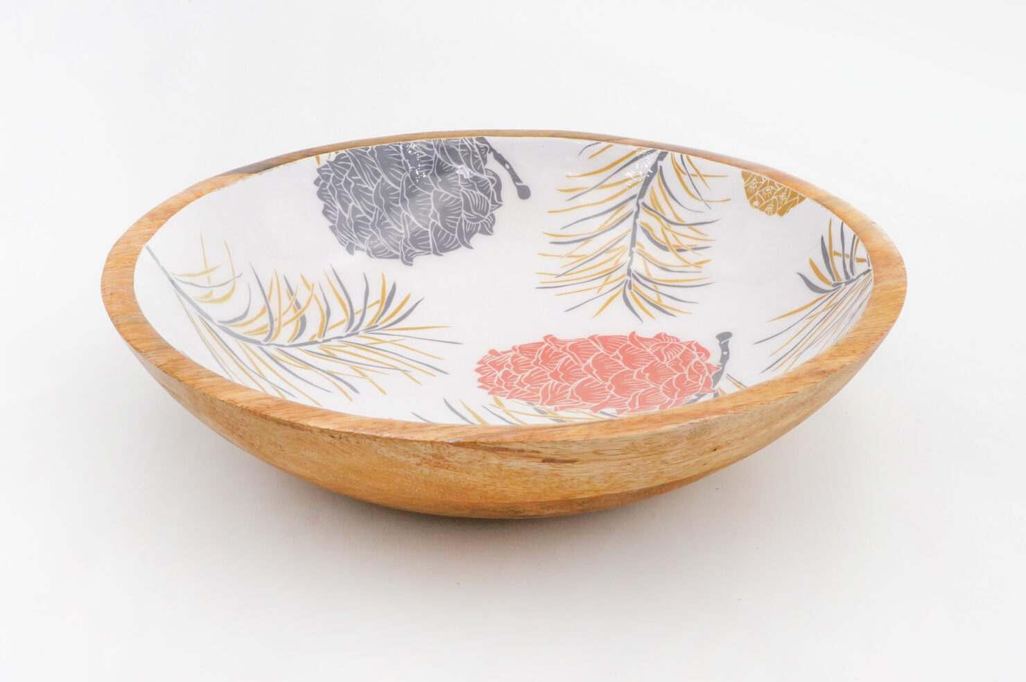 BOWL PINE CORNES MANGO WOOD 30 CM - BY ROOM