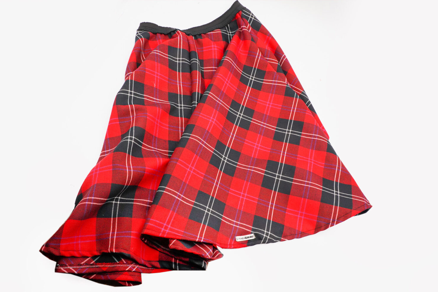 Half-wheel skirt with front flounce Dior model RED