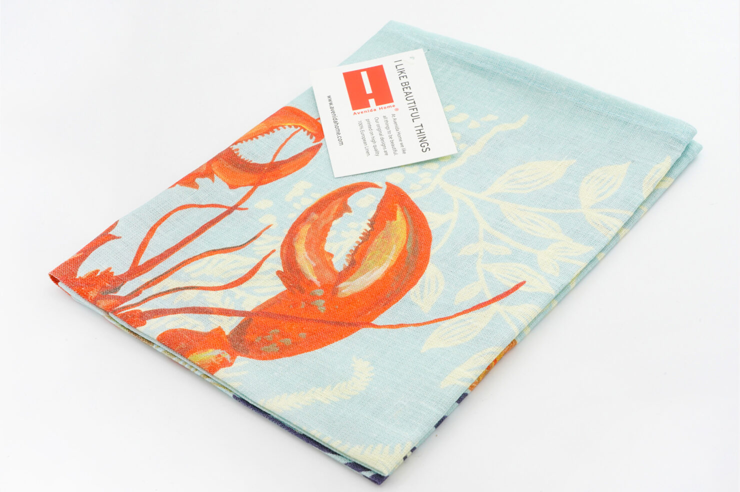 LOBSTER TEA TOWEL TABLE LINENS BY NATHALIE LETE 70x50 cm - AVENIDA HOME