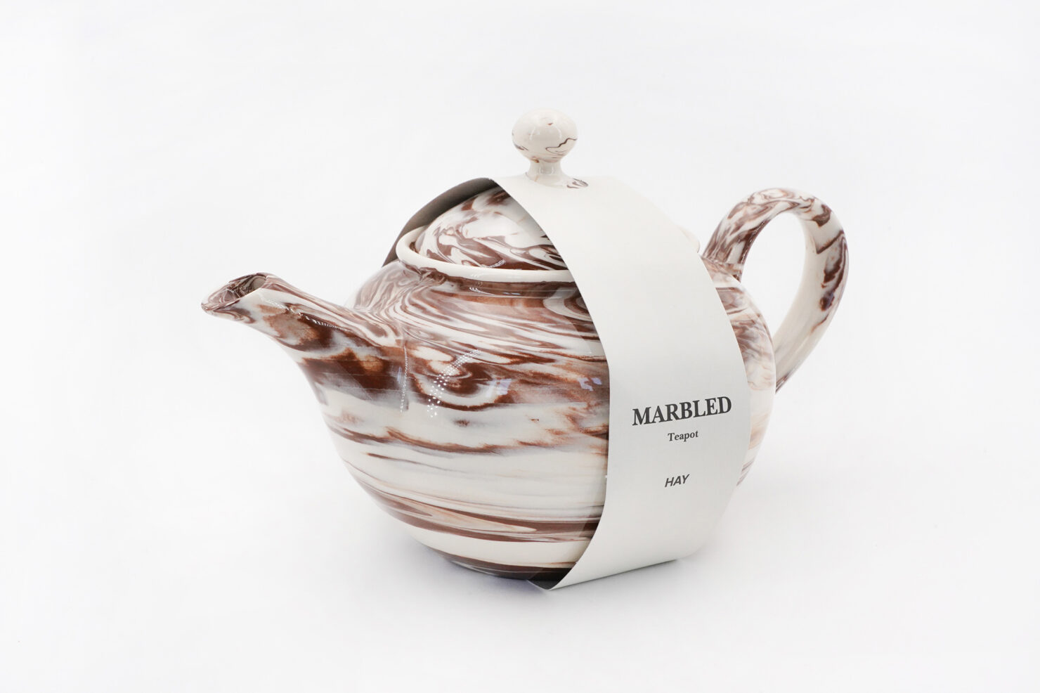 MARBLED TEAPOT BROWN - HAY