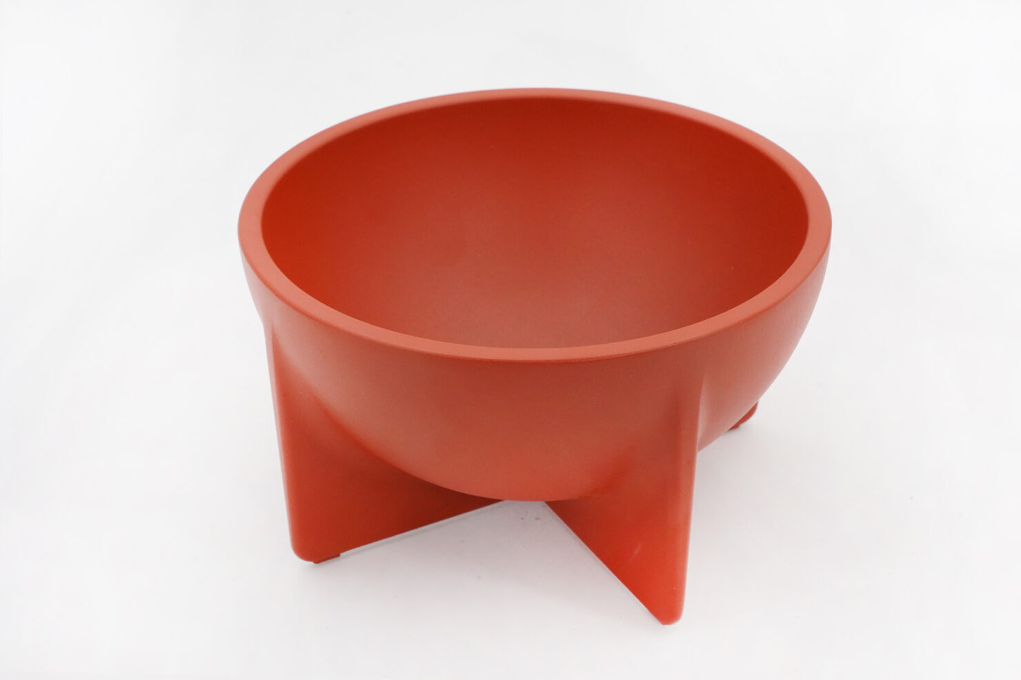 SMALL RAW ALLUMINUM CAST BOWL WITH SMOOTH, VELVET LIKE SURFACE - FORT STANDARD BROOKLYN