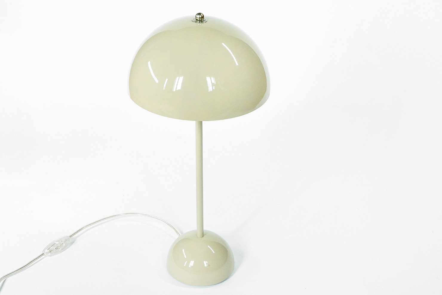 FLOWER POT 1969 TABLE DESK LAMP VP3 GREY BEIGE - &TRADITION